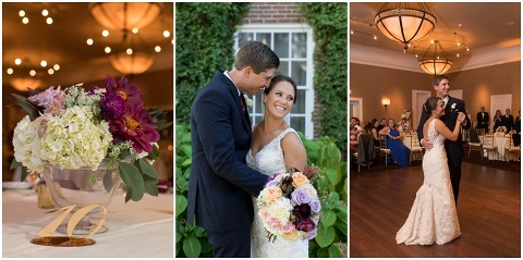 Kim And Ryan S Tidewater Inn Wedding Included A Ceremony In The Crystal Ballroom Reception Gold Most Beautiful Shade Of Burgundy